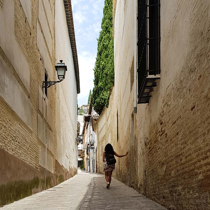 Andalusia narrow streets