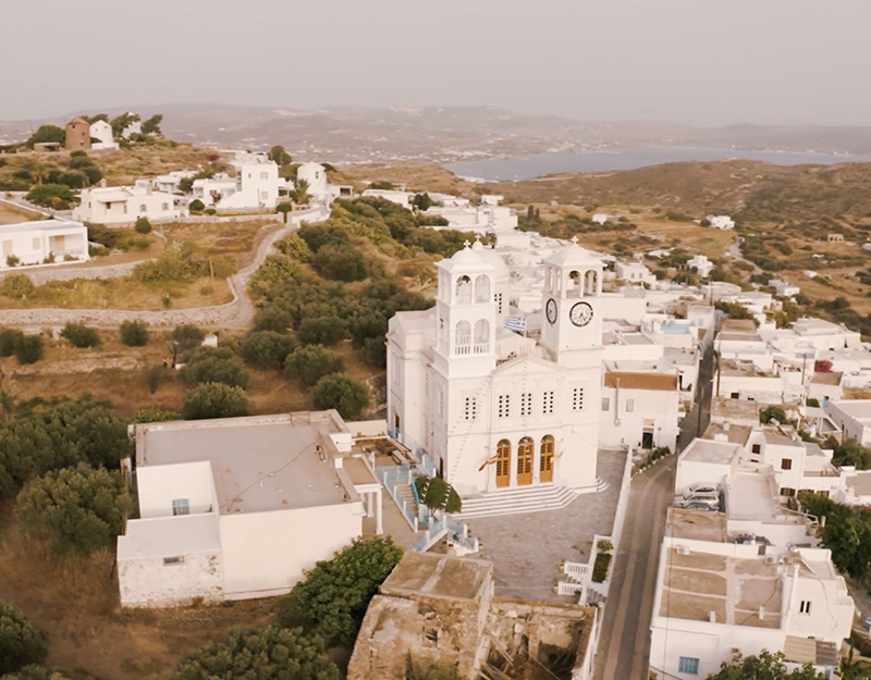 Cathedral in Milos island Greece