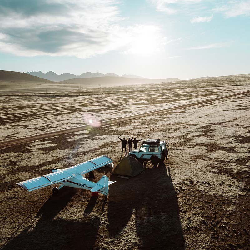 Backcountry Airplane Camping in South Africa