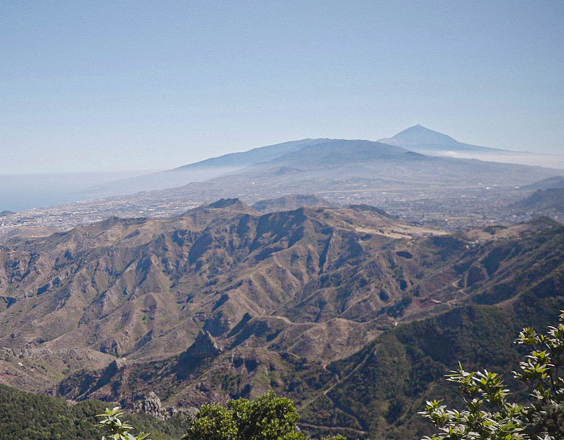 View from Pico del inglés in Tenerife