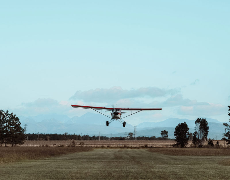 Airplane takeoff in South Africa